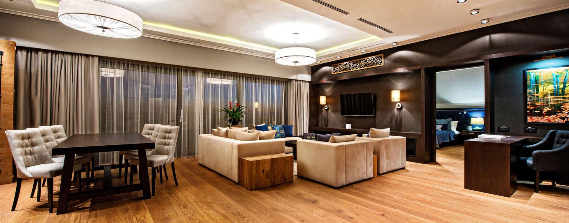 Apartament Prezydencki 2-poziomowy + Pakiet VIP Hotel