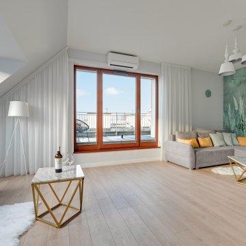 Apartament, 2 Sypialnie, Taras