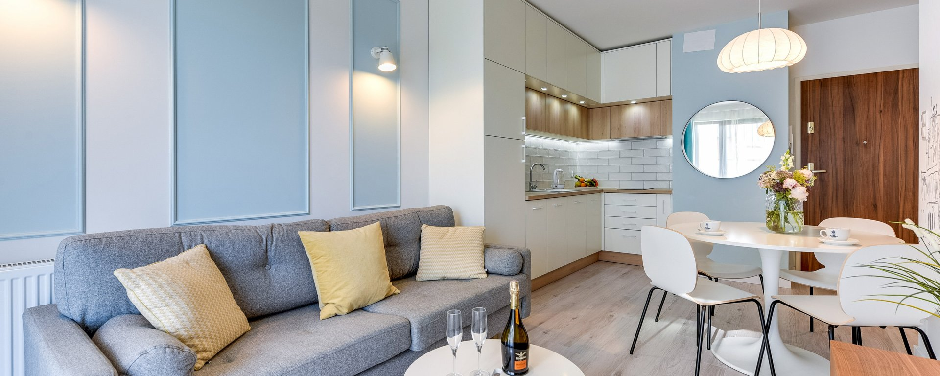 Grano Apartments Nowa Motława - 1 Sypialnia, Balkon