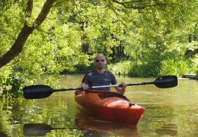 Canoeing on the Hase