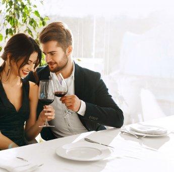 Romantycznie z winem