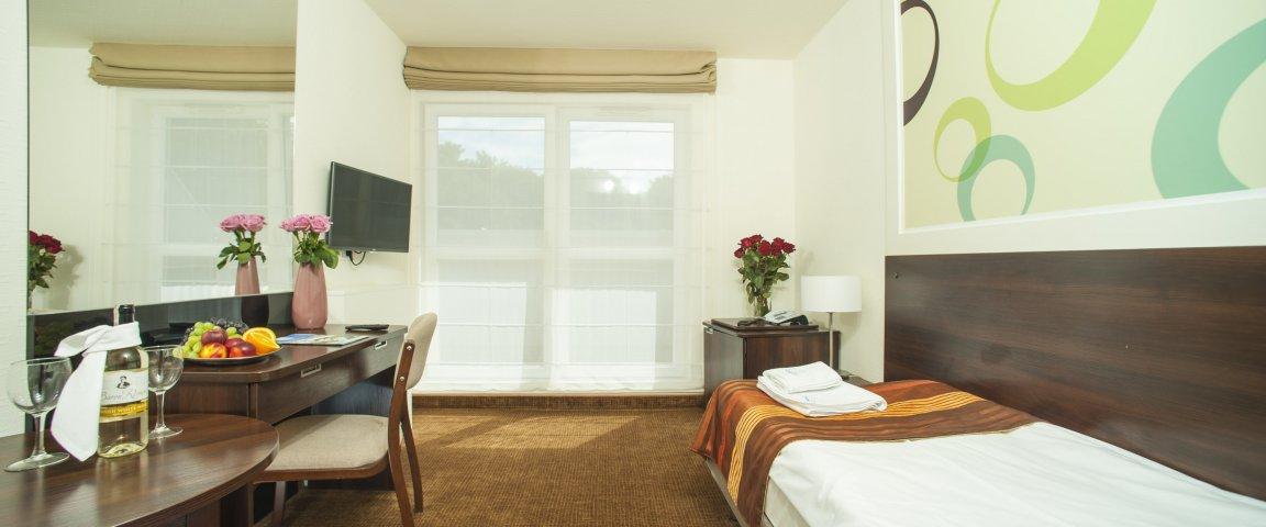 Einzelzimmer mit Parkblick