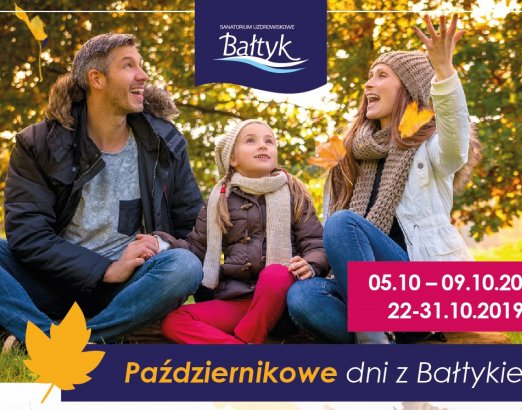 October days with the Baltic  05.10 - 09.10.2019 - up to 40% discount