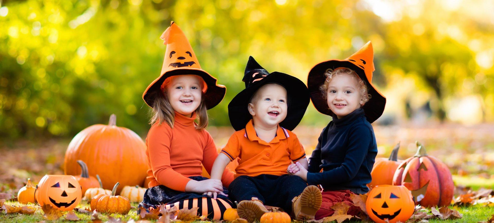 Rodzinne Halloween w lesie