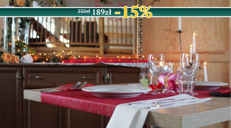 Voucher - Romantyczna kolacja dla dwojga przy świecach